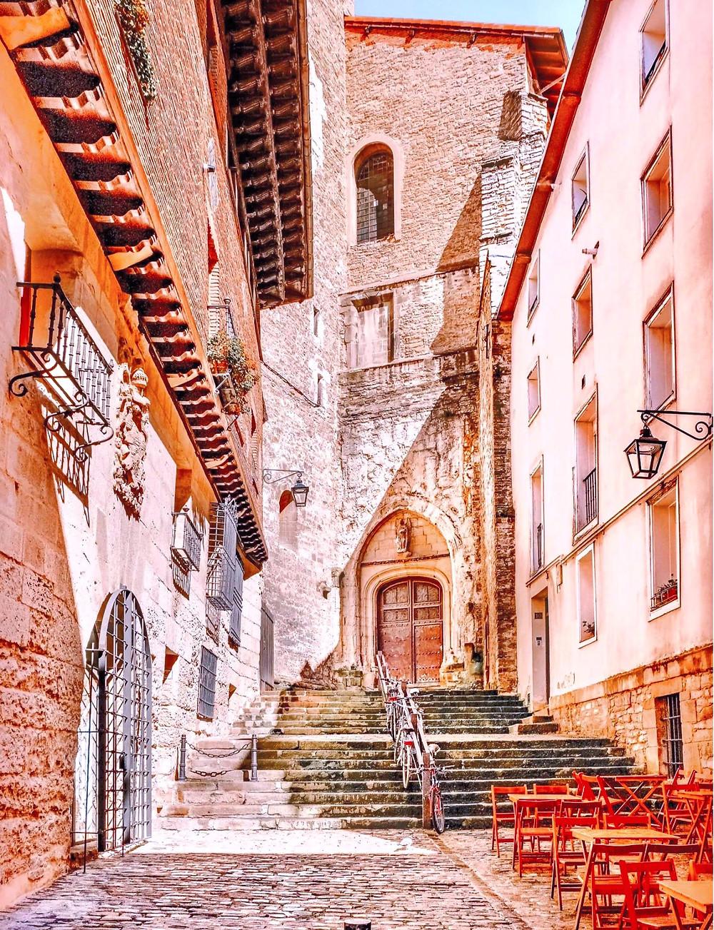 the old town of Vitoria-Gasteiz in Basque Spain