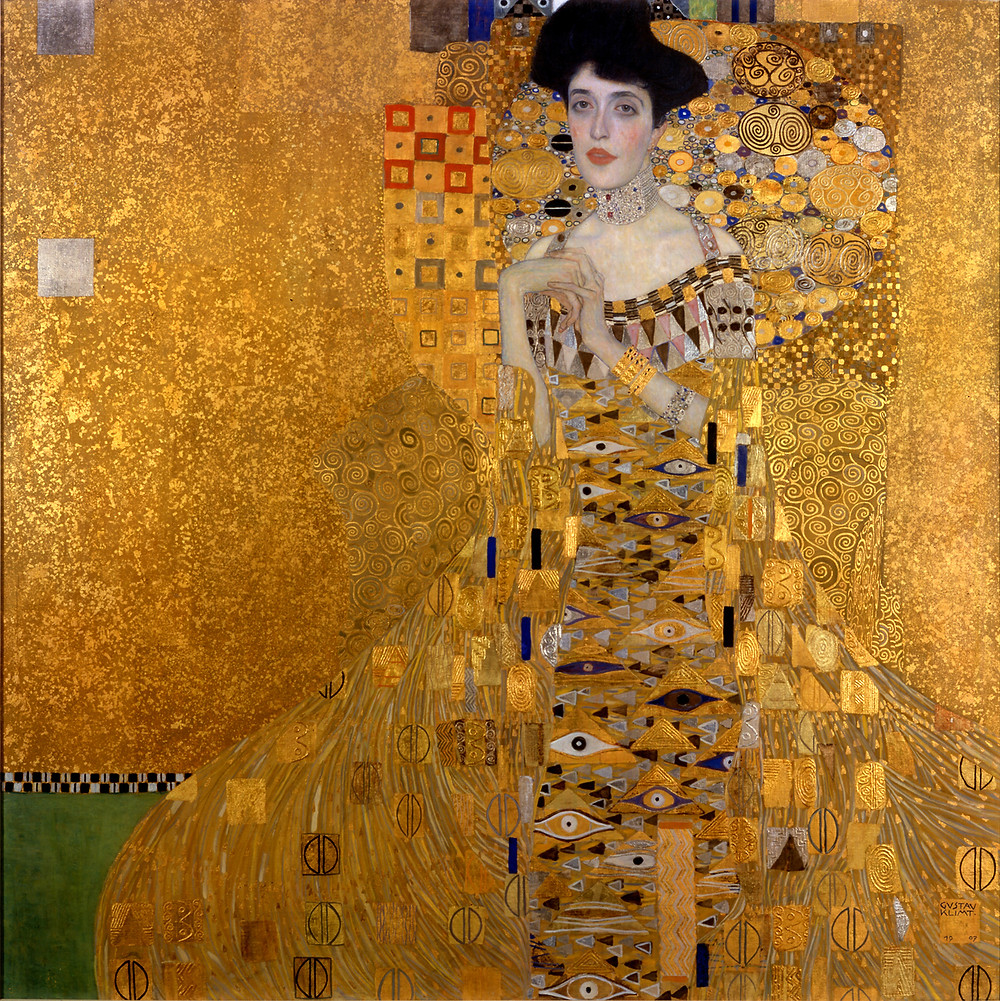 Gustave Klimt, Portrait of Adele Bloch-Bauer, 1907 -- in the Neue Galerie