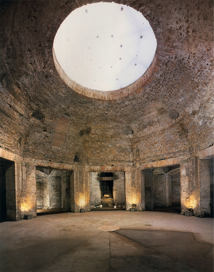 the Octagonal Room in Domus Aurea, which may have inspired the Octagonal Fountain on Palatine Hill