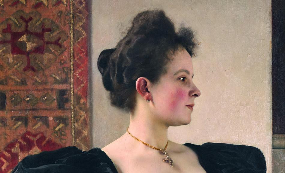 Detail from Portrait of a Woman, 1894 -- this painting shows how beautifully Klimt could draw