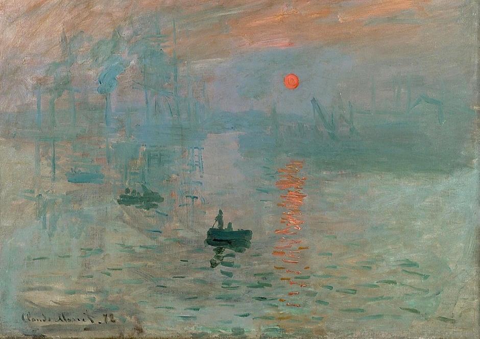 Monet, Impression: Sunrise, 1872