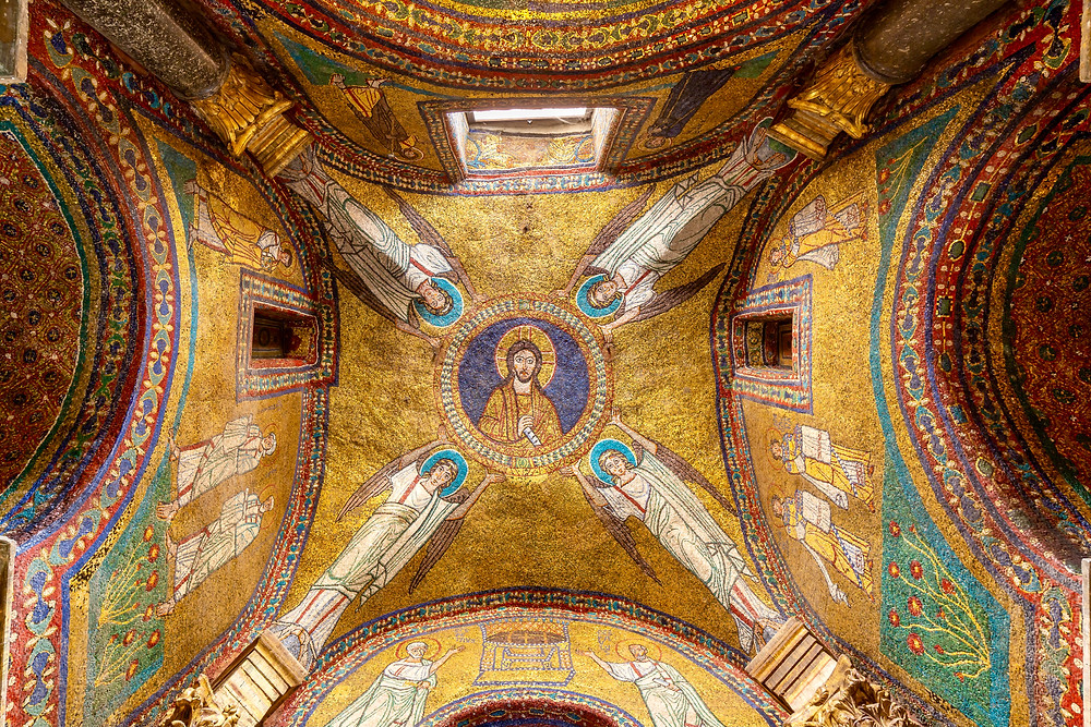 the ceiling of the Chapel of Saint Xeno