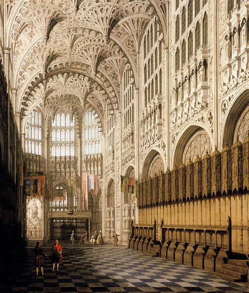 Canaletto, The Interior of the Henry VII Chapel, early 1750s