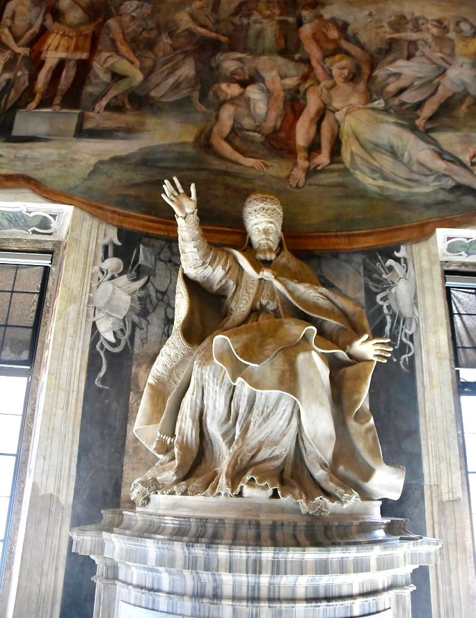 Bernini, marble statue of Pope Urban VII