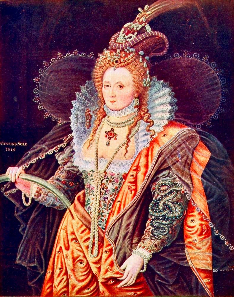 Isaac Oliver, Queen Elizabeth, circa 1600 -- painted when the queen was in her 60s