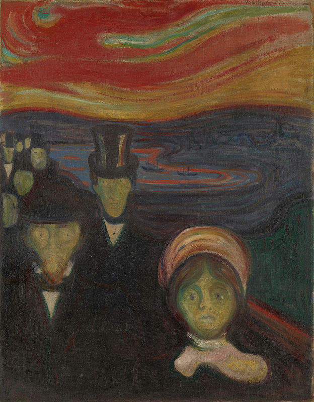 Edvard Munch, Anxiety, 1894