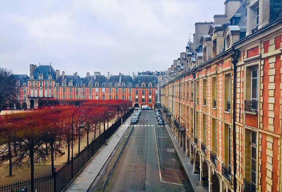 the Place des Vosges in the Marais