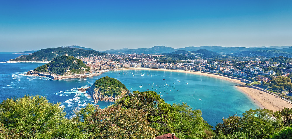 beautiful San Sebastian in the Basque region of Spain