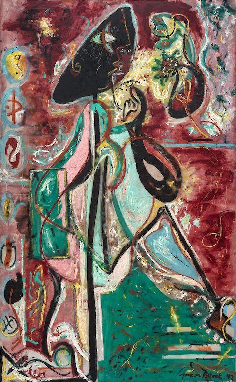 Jackson Pollack, Moon Woman, 1942