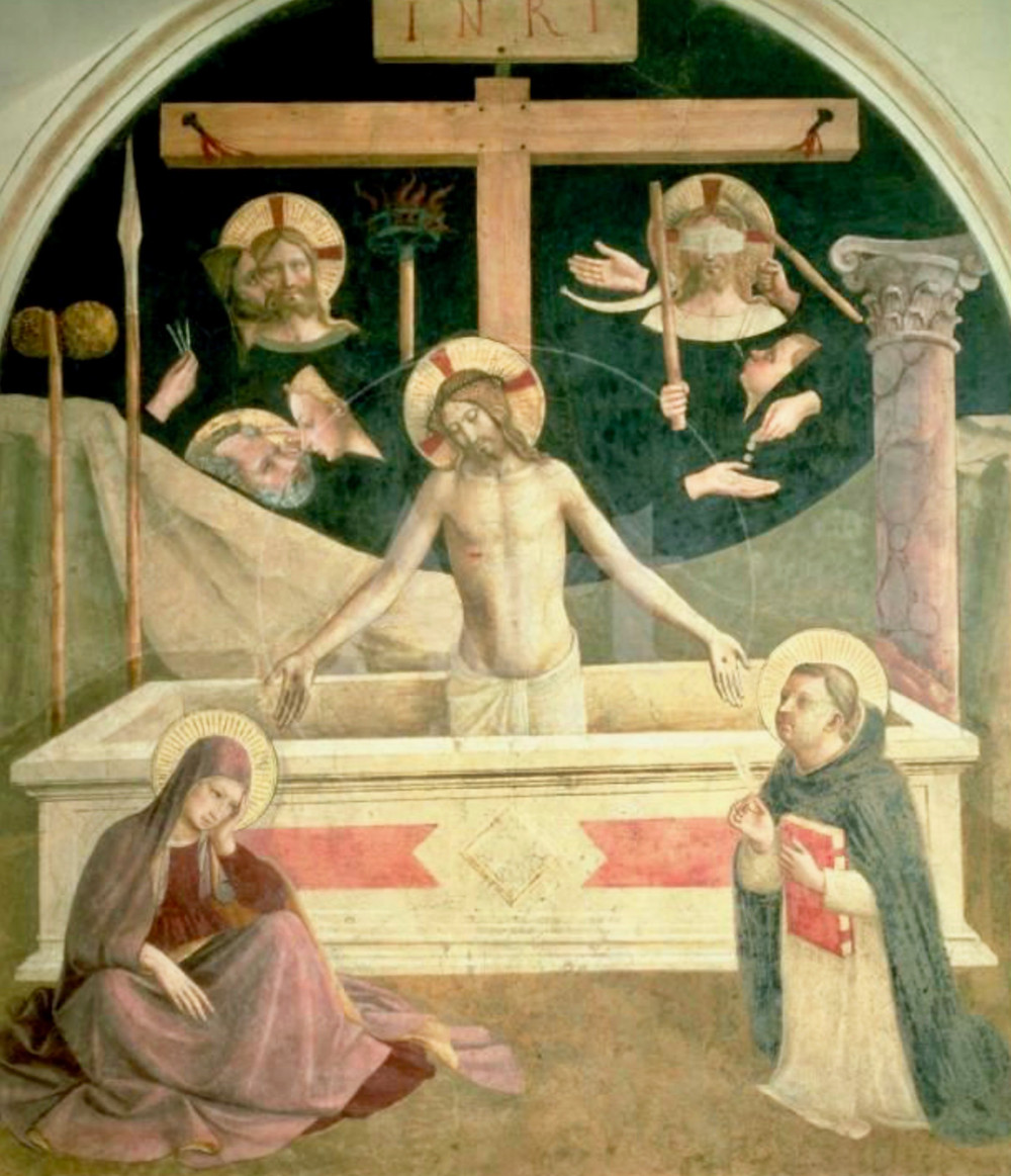 Fra Angelico, Man of Sorrow -- above the Refectory door