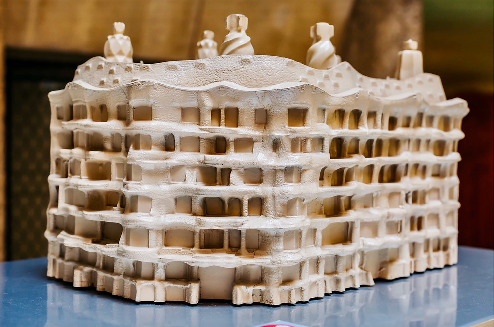 a model of La Pedrera in the attic