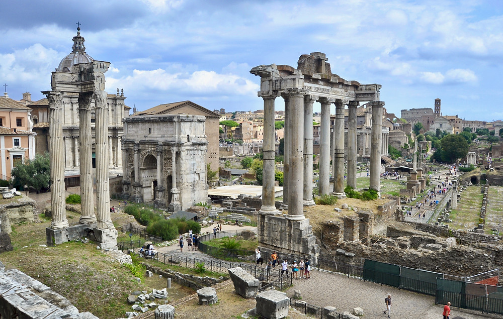 view of the Roman Forum from the Tabularium