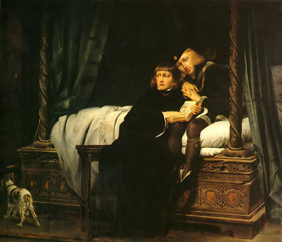 Paul Delaroche, The Princes in the Tower, 1830 -- in the Louvre