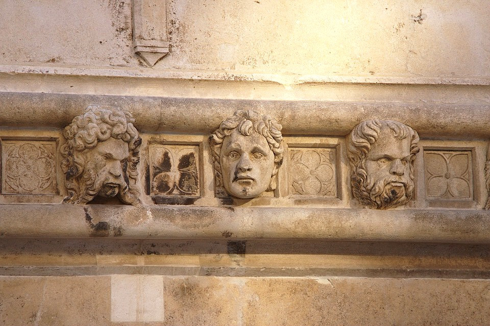 detail from the frieze of 71 heads