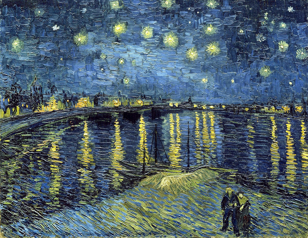 Vincent Van Gogh, The Starry Night Over the Rhone, 1889