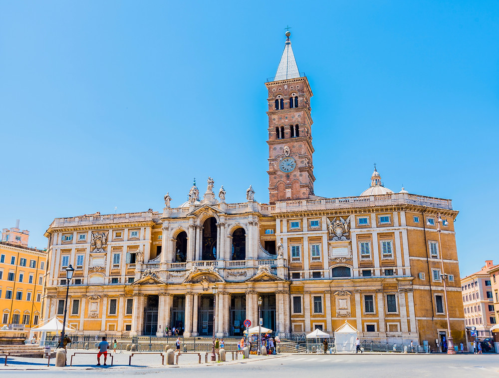 Basilica of Santa Maria Maggiore in Rome's Monti neighborhood