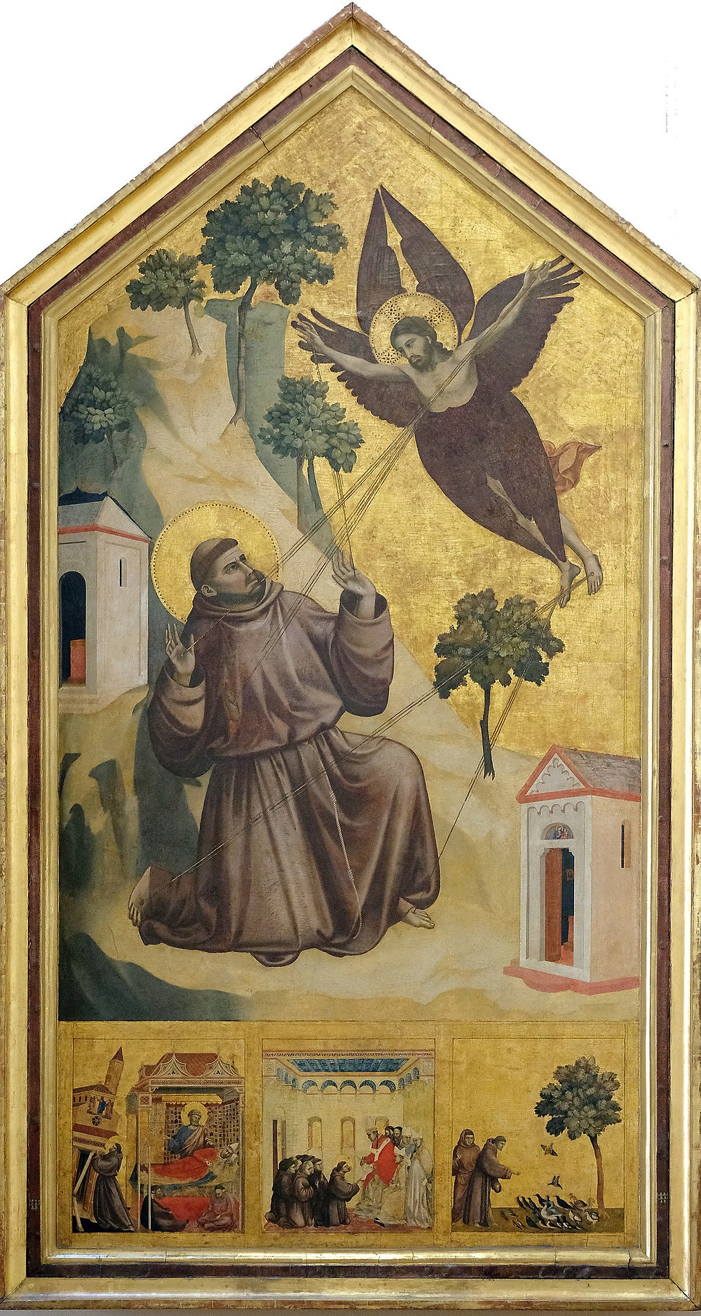 Giotto, Saint Francis Receiving the Stigmata, 1295-1300 -- in the Louvre