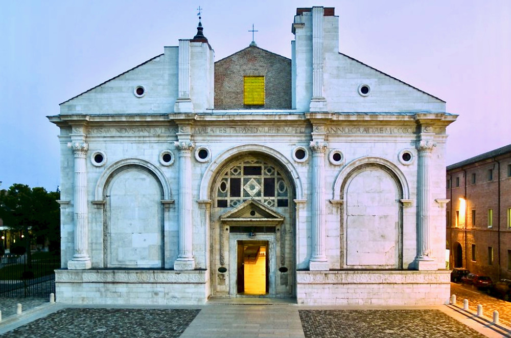 the Temple Malatesta, designed by Alberti