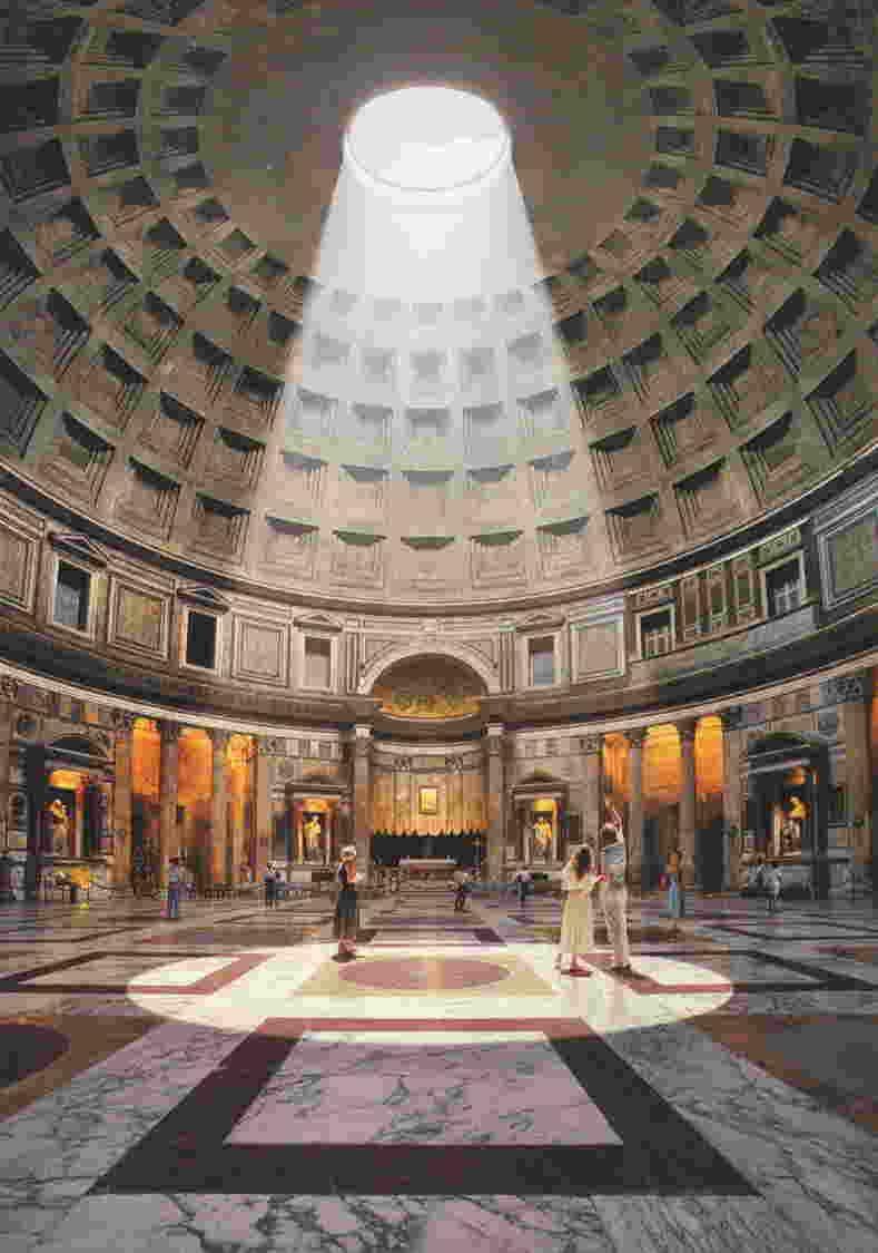 beam of light coming through the oculus