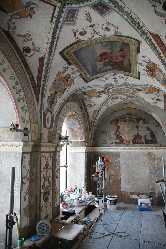 frescos in the Casina Farnesina. image source: WMF