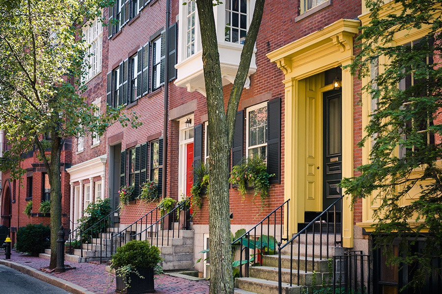 beautiful row homes in Beacon Hill