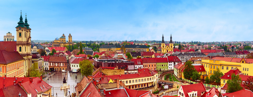 panorama of Eger cityscape