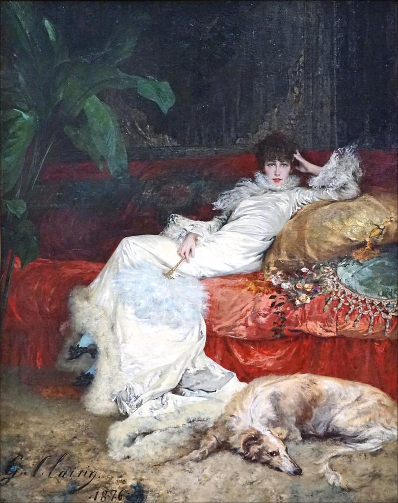 Georges Clairin, Portrait of Sarah Bernhardt, 1876