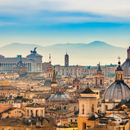 view of Rome from castle sant angelo