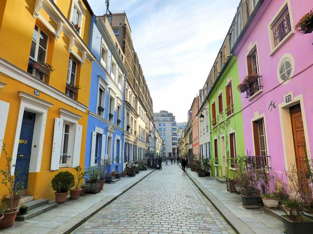 the picturesque Rue Cremieux in Paris