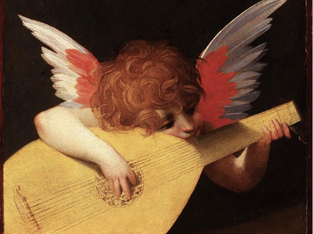 Rosso Fiorentino, Angel Playing the Lute, 1521