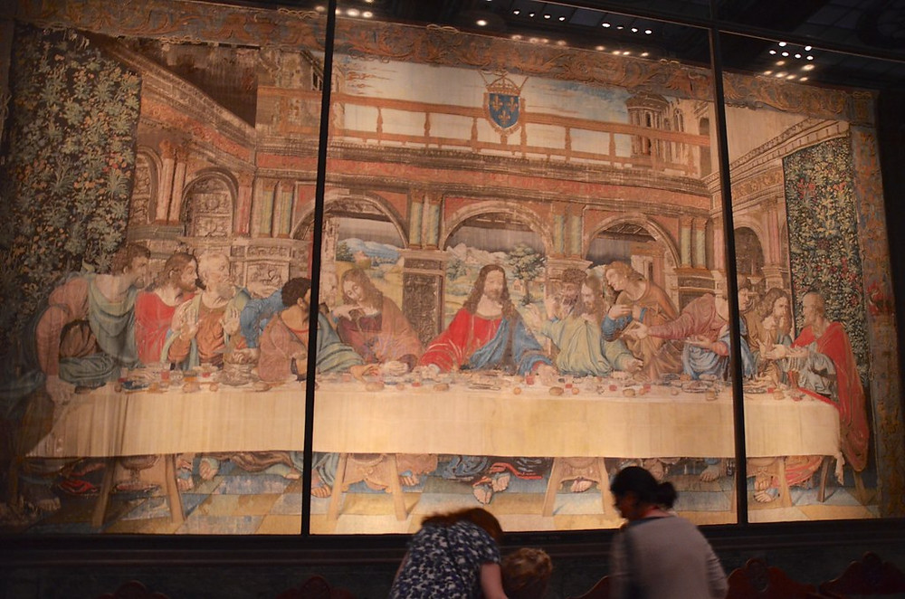 Raphael-designed tapestry of The Last Supper in the Vatican Pinacoteca