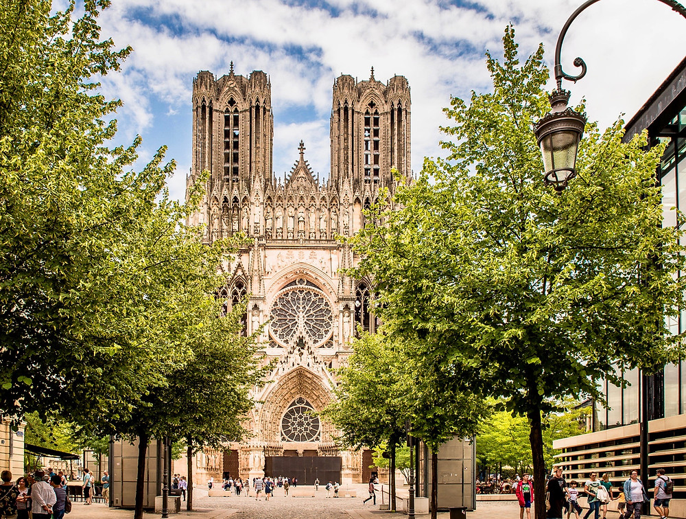 Reims Cathedral, a beautiful church in France's Champagne region
