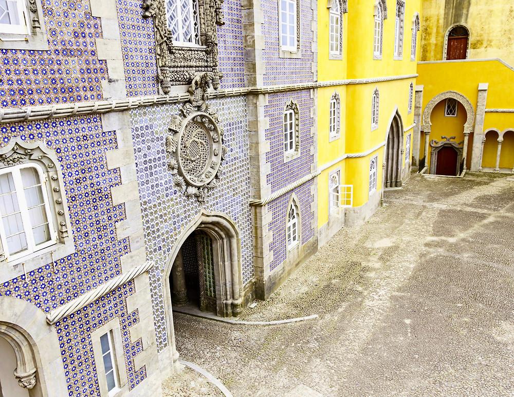 courtyard of Pena Palace