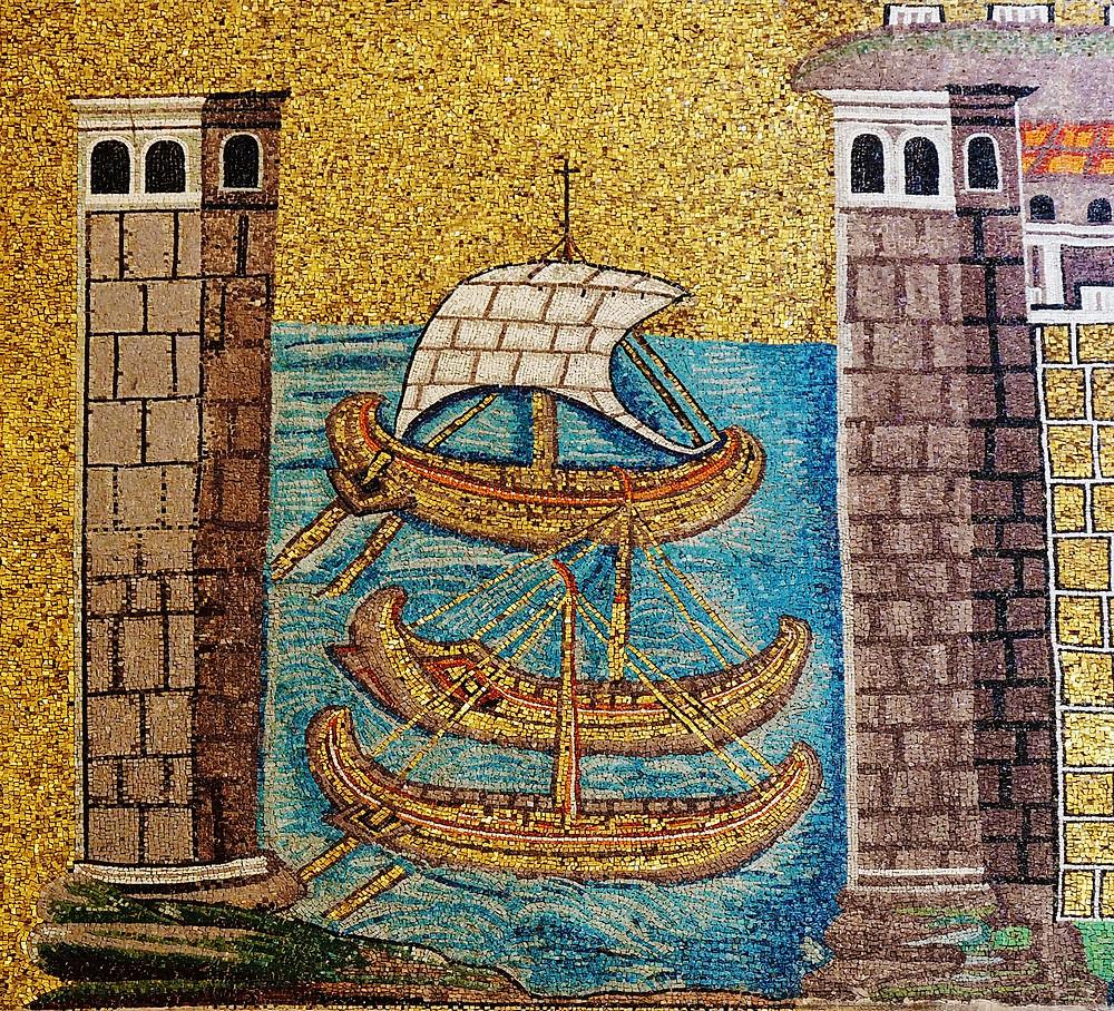 mosaics in Sant'Apollinare Nuovo. image source: Petar Milošević