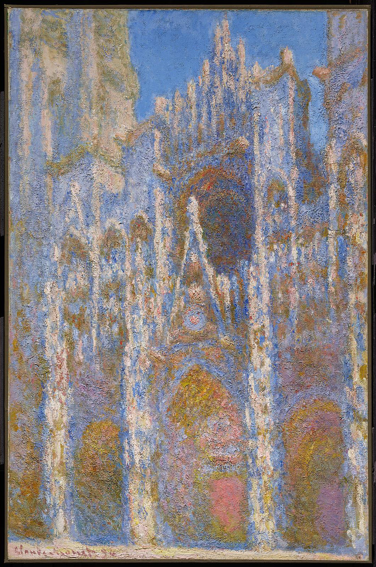 1 of 30 studies Claude Monet made of Rouen's cathedral in the 1890s. One is in the Rouen Museum of Fine Arts