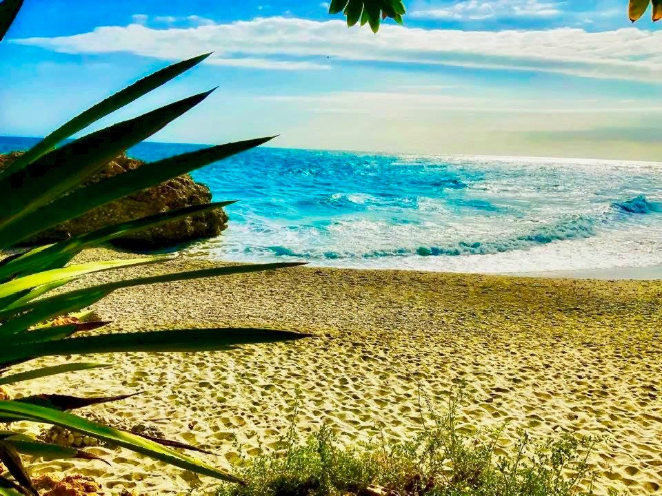 the beach in Nerja Spain on the Costa del Sol