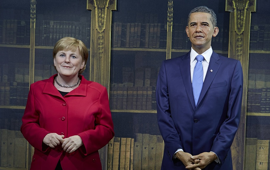 Angela Merkel and Barack Obama, two of the only real leaders left in the world during these trying times