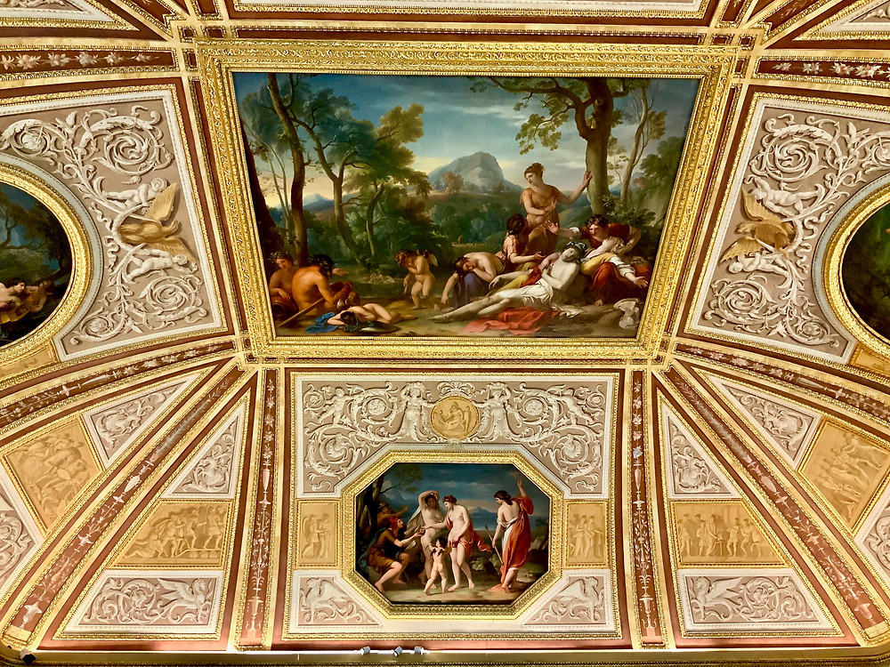 ceiling frescos in the Borghese Gallery