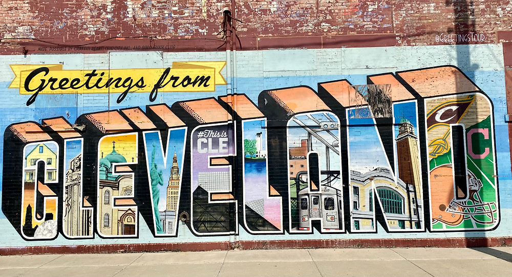the Cleveland Mural, just off 25th Street