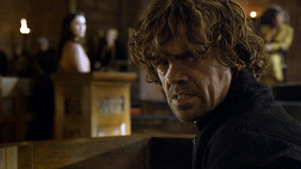 Tyrion is pissed off at his unjust death sentence.