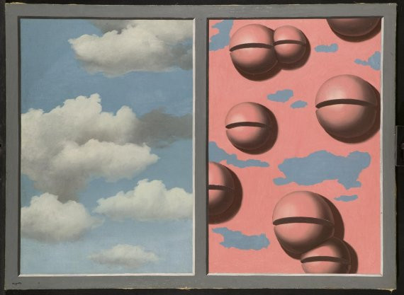 Rene Magritte, Pink Bells, Tattered Skies, 1930