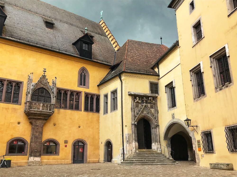 old town hall of Regensburg on Rathausplatz