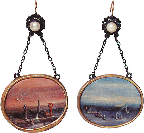 Yves Tanguy, Earrings for Peggy Guggenheim, ca. 1938