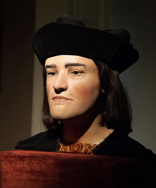 reconstructed bust of King Richard III