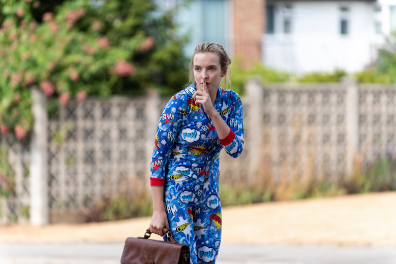 Villanelle dons pop art superhero pajamas to escape from the hospital
