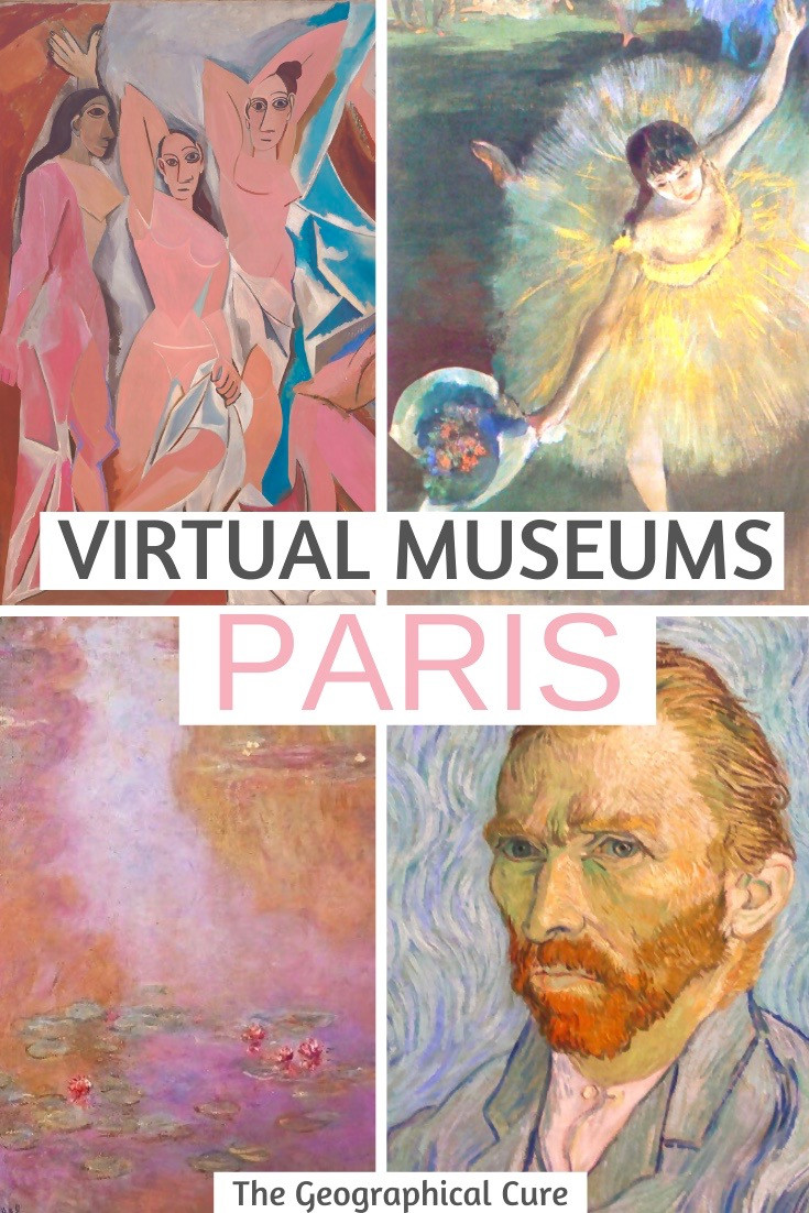 the best virtual museums in Paris France, to enjoy online from home