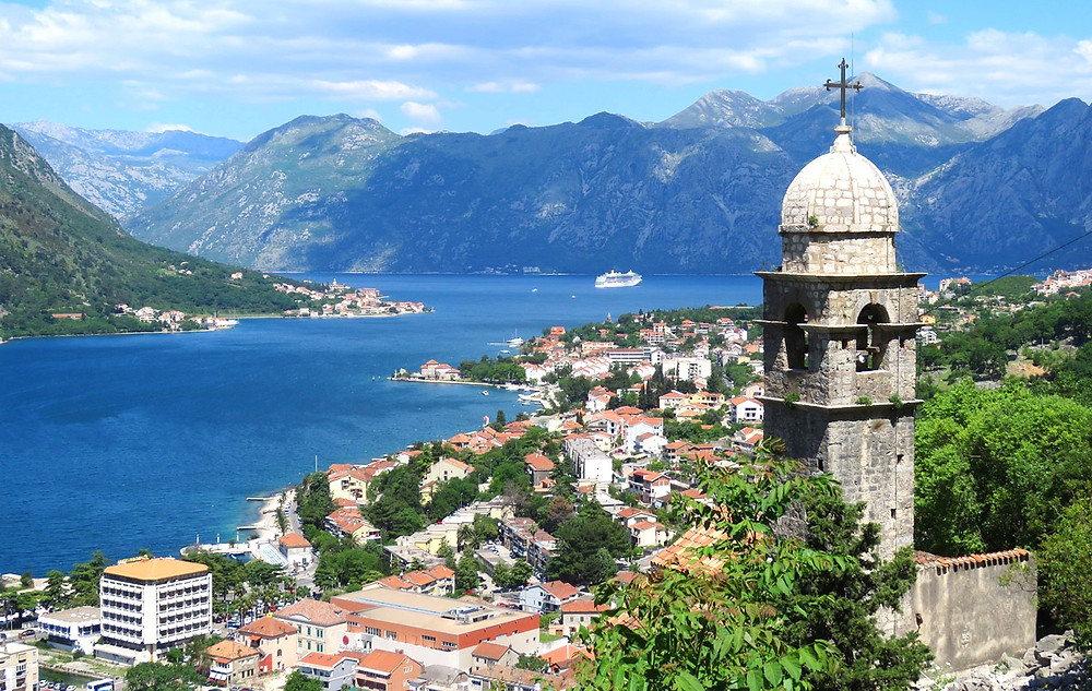 the town of Kotor Montenegro on the Bay of Kotor