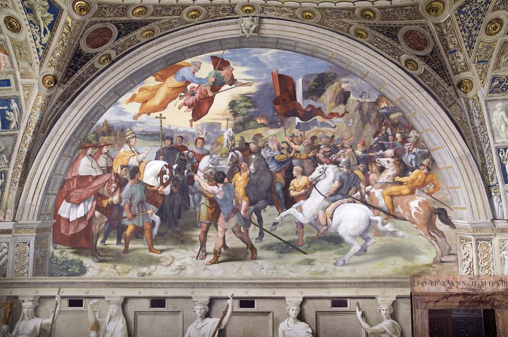Raphael, Pope Leo the Great Turns Away Attila the Hun, 1511-14