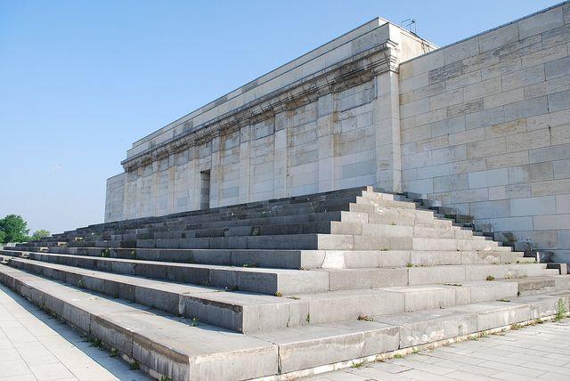 the Zeppelin grandstand, where Hitler gave stump speeches