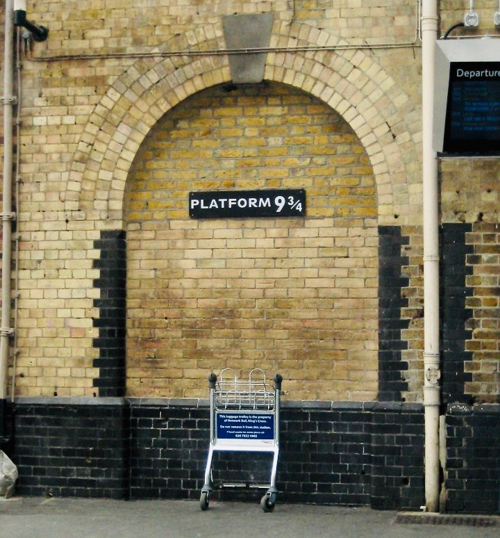 the Harry Potter inspired Platform 9 3/4 at King's Cross Station